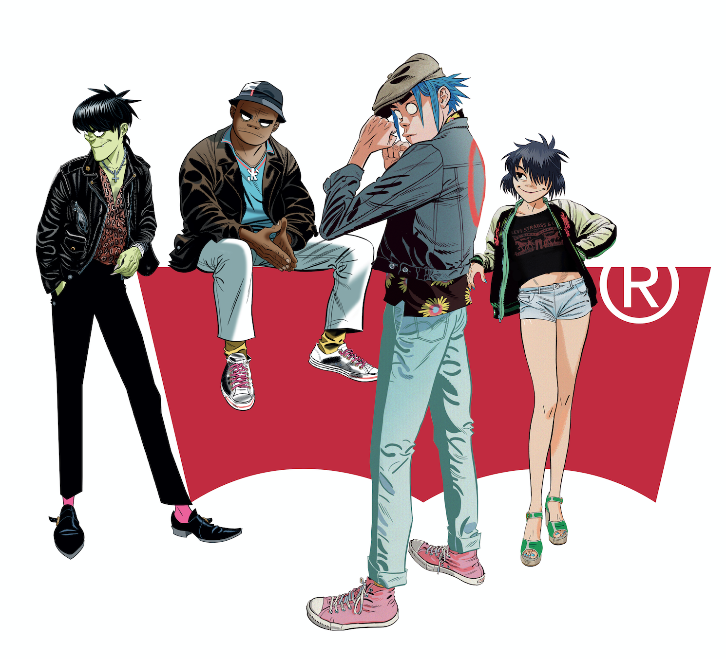 Gorillaz have just launched an exclusive collaboration with Levi's® Print Bar