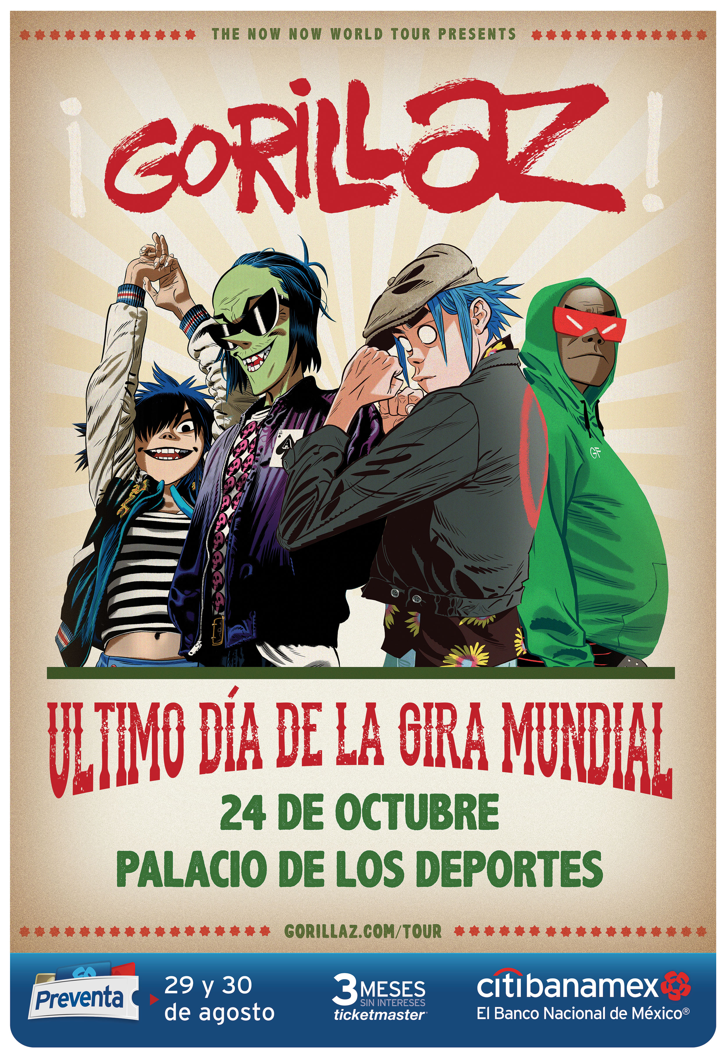 Gorillaz announce show in Mexico City
