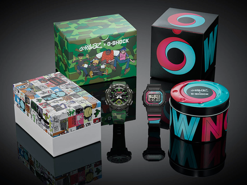 The Now Now and Camo G-Shocks are out now.